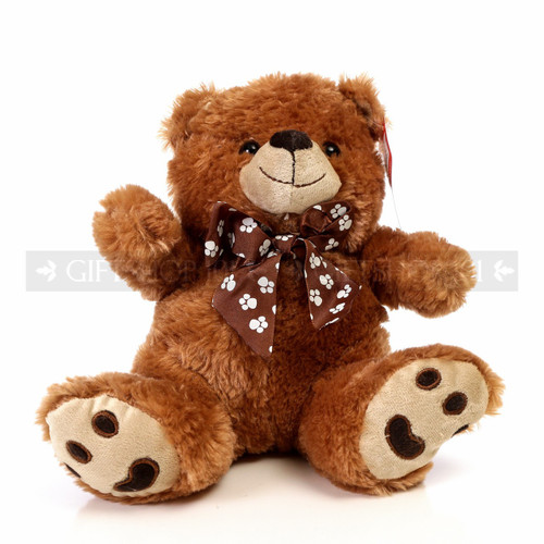 "9.5"" Caramel Bear Soft Plush Toy Stuffed Animal - Brown - Image 1"