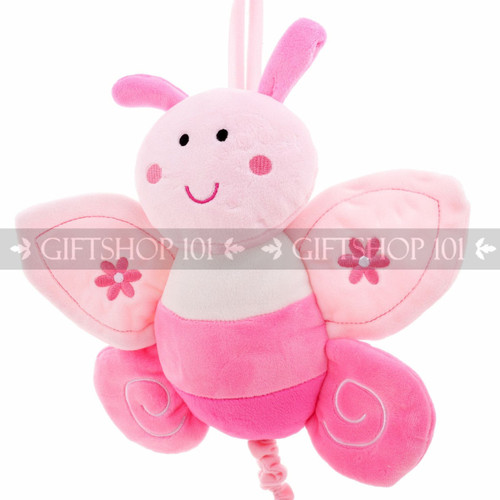 """10"""" Cute Butterfly Baby Pull String Musical Plush - Pink - Image 2"""