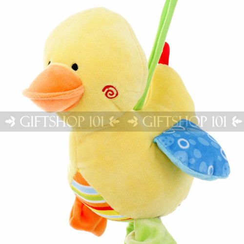 """9"""" Cute Duck Baby Pull String Musical Plush - Blue - Image 2"""