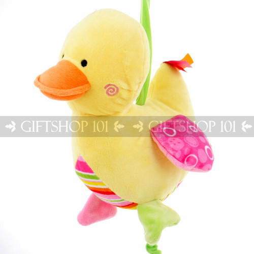 """9"""" Cute Duck Baby Pull String Musical Plush - Pink - Image 2"""