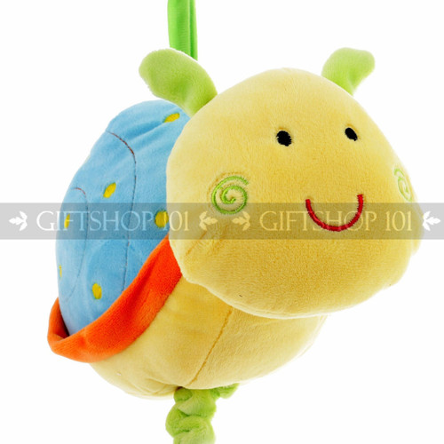 "9"" Cute Snail Baby Pull String Musical Plush - Blue - Image 2"
