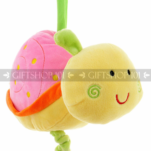 "9"" Cute Snail Baby Pull String Musical Plush - Pink - Image 2"