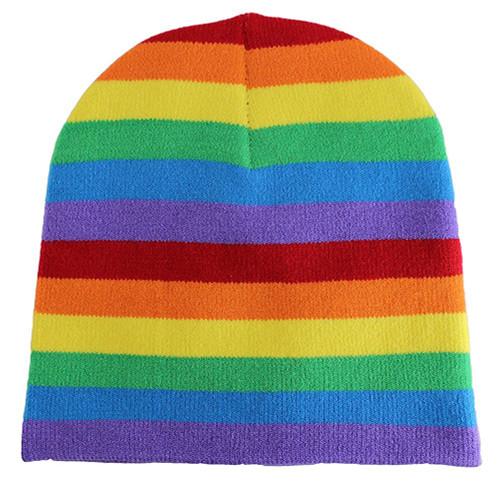 Winter Beanie - Rainbow
