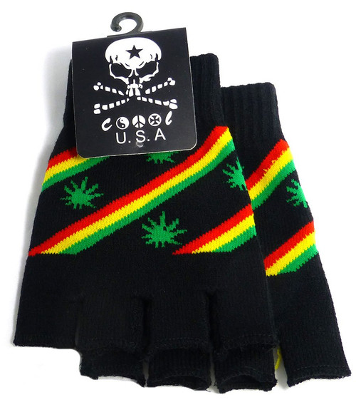 Winter Mitten/Gloves - Rasta Leaves