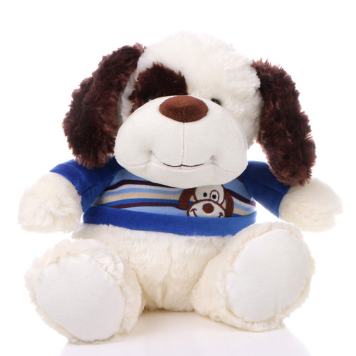 "11"" Max Dog Plush with Shirt - Blue (Front)"