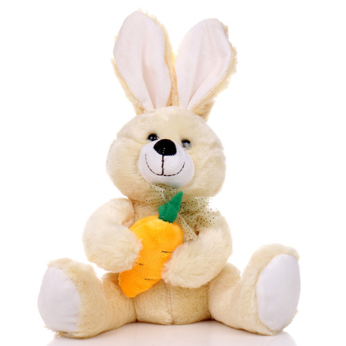 "10"" Bunny with Carrot - Yellow (Front)"