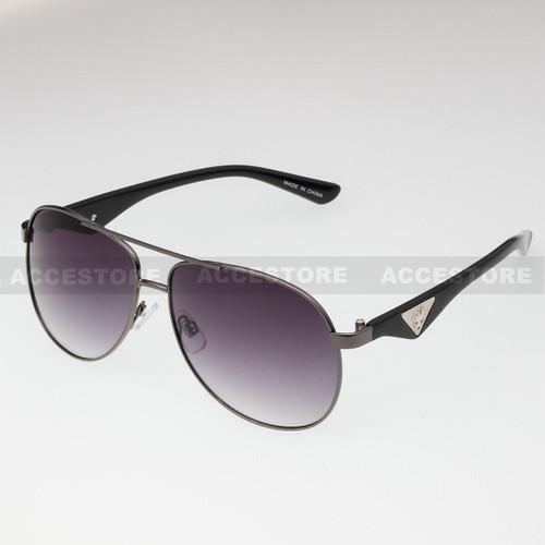 Aviator Shape Khan Design Fashion Sunglasses 5N011 - Black