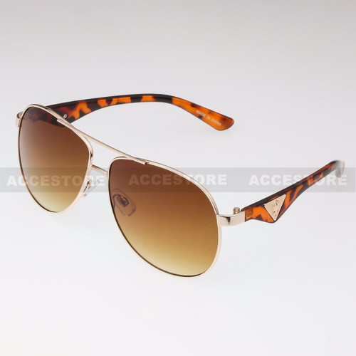 Aviator Shape Khan Design Fashion Sunglasses 5N011 - Tortoise