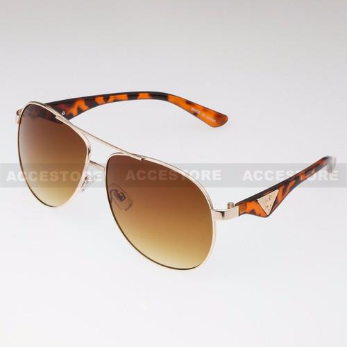 Aviator Shape Khan Design Fashion Sunglasses 5N011 - Tortoise