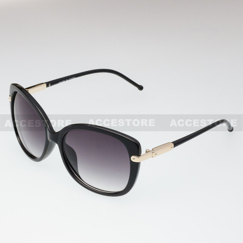 Butterfly Shape Retro Fashion Sunglasses 89009 - Black