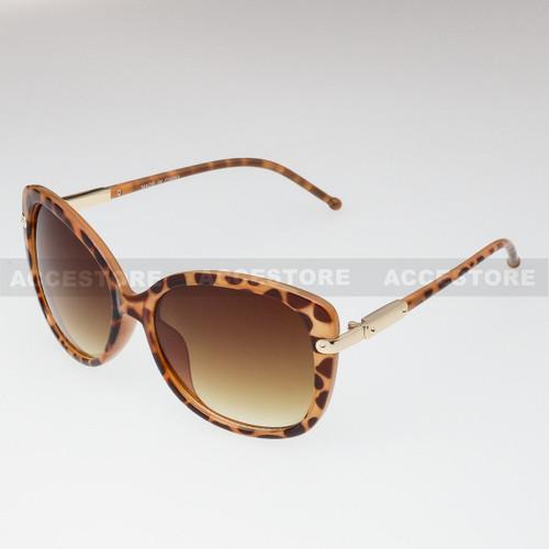 Butterfly Shape Retro Fashion Sunglasses 89009 - Brown