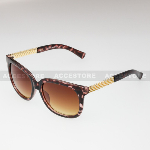Classic Shape Elegant Fashion Sunglasses 80605 - Brown