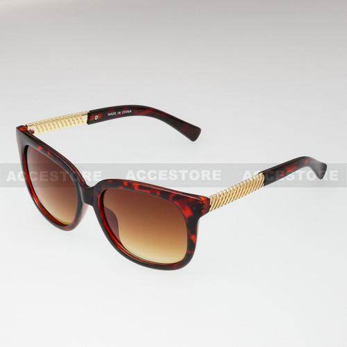 Classic Shape Elegant Fashion Sunglasses 80605 - Tortoise