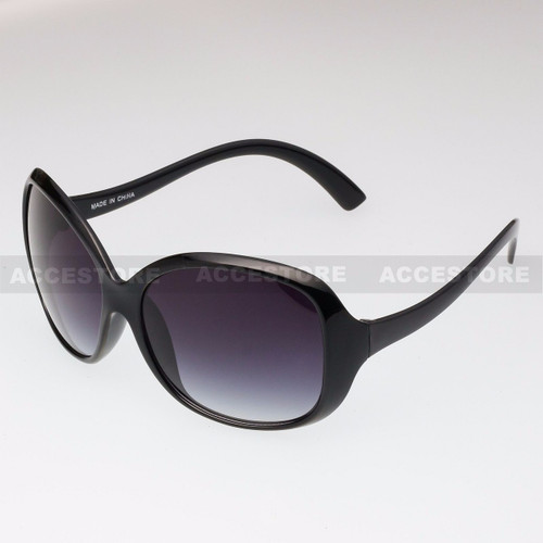Butterfly Shape Retro Fashion Sunglasses 80429 - Black