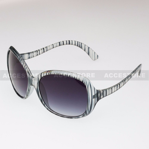 Butterfly Shape Retro Fashion Sunglasses 80429 - Clear