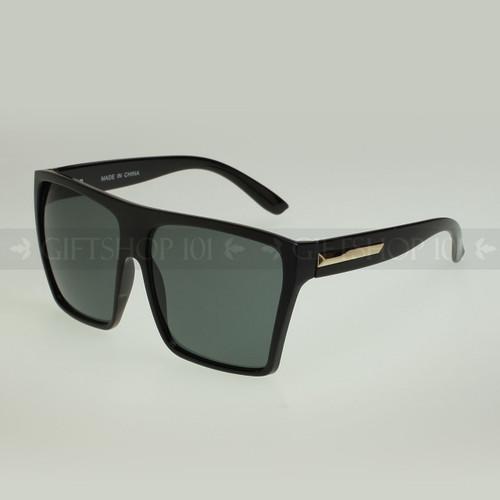 Square Shape Oversize Retro Fashion Sunglasses 80331 - Black Gold