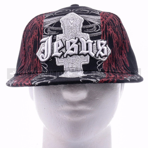 Fitted Caps Hat 8205 Black - Jesus <Front>