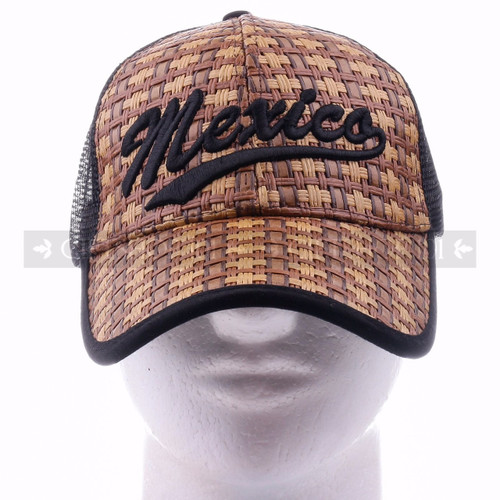 Mesh Back Baseball Caps Hat 9904 Black - Mexico <Front>
