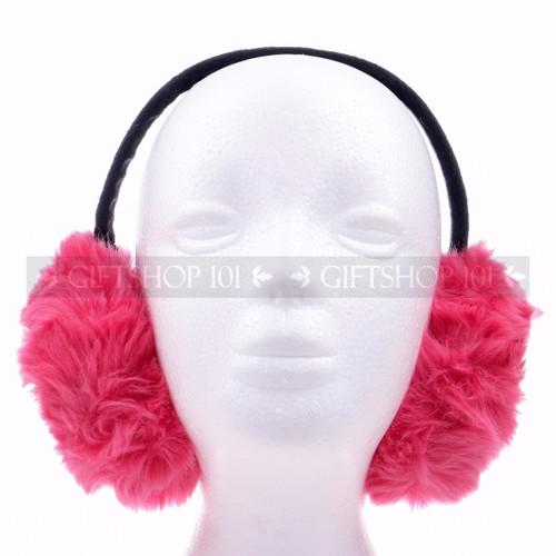 Muffs Ear Warmer - Hot Pink