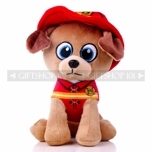 "8"" First Responder Fire Fighter Dog Plush - Red (Front)"