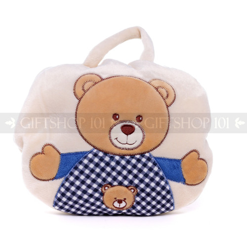 "9"" Baby 2-in-1 Travel Blanket and Pillow - Bear (Pillow)"