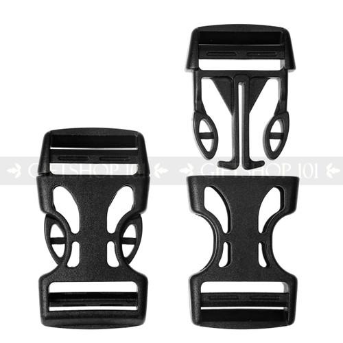 Tough Black Light Weight Side Release Clip Buckle (10PCS)