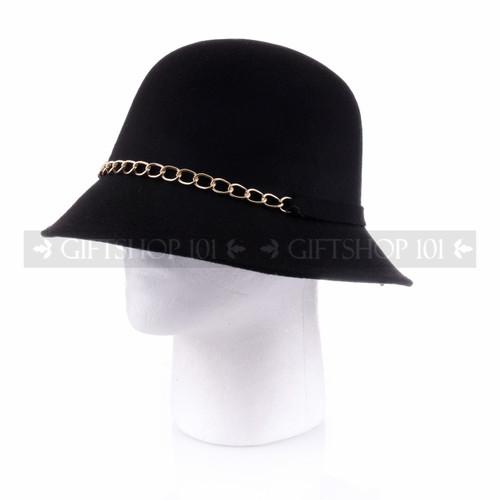 Women Summer Bucket Hat- Black (Side)