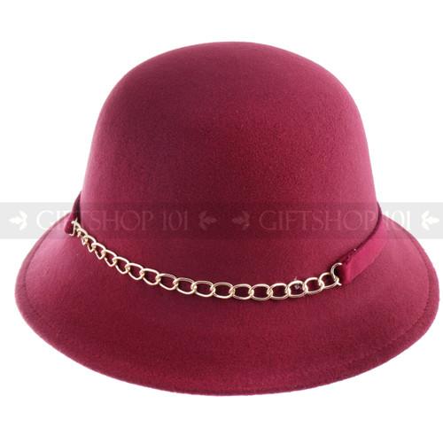 Women Summer Bucket Hat- Burgundy