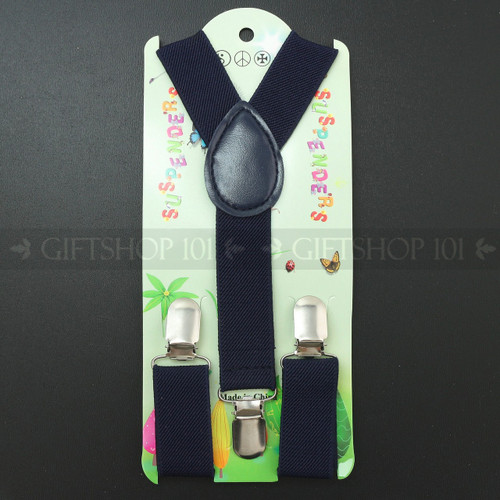 Kid's Suspenders - Navy Blue