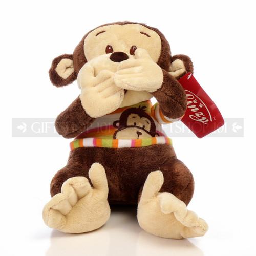 "12.5"" Monkey Soft Plush Animal - Orange Shirt With Speak No Evil"
