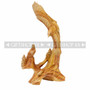 Wood Like Carved Flying Eagle Figurine