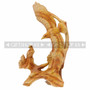 Wood Like Carved Flying Eagle Figurine