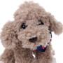 "9"" Milo Dog with Football Bandanna - Grey (Detail)"