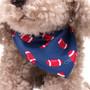 "9"" Milo Dog with Football Bandanna - Grey (Close-up)"