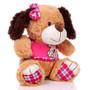 "11"" Amelia Dog with Shirt - Pink (Side)"