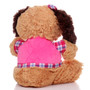 "11"" Amelia Dog with Shirt - Pink (Back)"