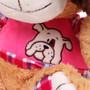 "11"" Amelia Dog with Shirt - Pink (Detail)"