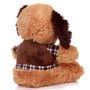 """11"""" Amelia Dog with Shirt - Brown (Back)"""