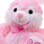 """10"""" Footsie Bunny with Ribbon - Pink"""