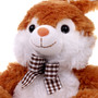 "10"" Footsie Bunny with Ribbon - Brown"