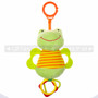 "7"" LITTLE FROG ANIMAL BABY RATTLE W/ O' RING & TEETHER"