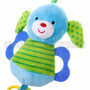 """7"""" LITTLE DOG ANIMAL BABY RATTLE W/ O' RING & TEETHER (Details)"""