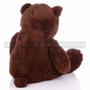 "24"" Giant Coffee Colored Teddy Bear Plush- Back"