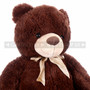 "24"" Giant Coffee Colored Teddy Bear Plush- Detail"