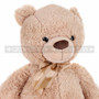 "24"" Giant Coffee Colored Teddy Bear Plush- Detail"