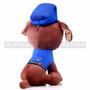 "8"" First Responder Police Dog Plush - Blue (Back)"