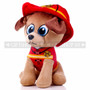 "8"" First Responder Fire Fighter Dog Plush - Red (Side)"
