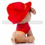 """8"""" First Responder Fire Fighter Dog Plush - Red (Back)"""