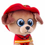 "8"" First Responder Fire Fighter Dog Plush - Red (Detail)"