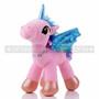 "8"" Pink Magical Flying Unicorn Plush - Left"